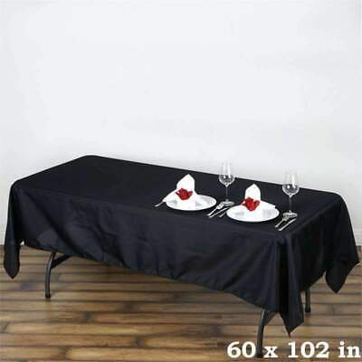 10 Pk 60x102 in. Polyester Rectangle Seamless Tablecloth Wedding Party
