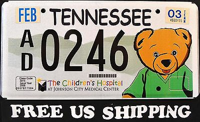 """TENNESSEE """" TEDDY BEAR - CHILDREN HOSPITAL """" Graphic License Plate FREE US SHIP"""