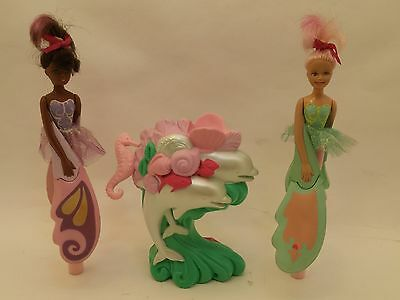 RARE 3 PC Lot Vintage Sky Dancer Sea Star Dolphin Launcher Toy 2 Dancers