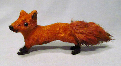 Kunstlerschutz Wagner Handwork Germany Running Red Fox Flocked Figurine