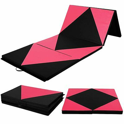 10ft Thick Soft Play Folding Panel Gymnastics Mats Gym Fitness Exercise Non-Slip