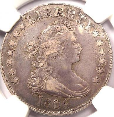 1806 Draped Bust Quarter 25C - NGC XF Details (EF) - $3,750 Value in XF40
