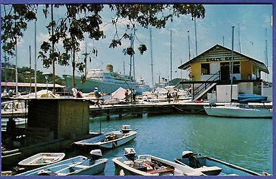 2877 ST. THOMAS US VIRGIN ISLANDS Yacht Haven West India Co Docks Cruise Ships