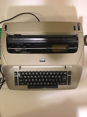 Perfect Condition - Tan Vintage IBM Selectric 1 Model 72 Electric Typewriter