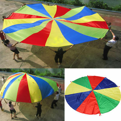 2M Kids Children Rainbow Parachute Outdoor Game Family Exercise Sport Toy L0