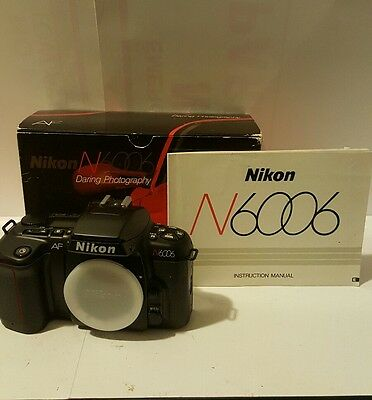 Nikon N 6006 35MM SLR Film Camera Body in Box w/Manual