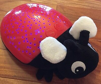 Discovery Kids Red&black Ladybug Plush Night Light Star Projector Toy