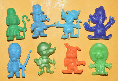 VINTAGE RARE CEREAL PREMIUM MEXICAN FIGURES R&L Daffy Dawgs 70'S TINYKINS