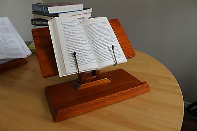 Book Holder - Solid Wood Book Holder Portable for any Book Size & Weight