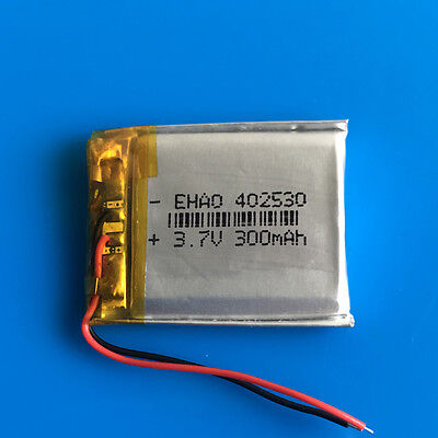300mAh 3.7V Li Po Polymer Battery for PSP Headset Smart Watch MP3 MP4 GPS 402530
