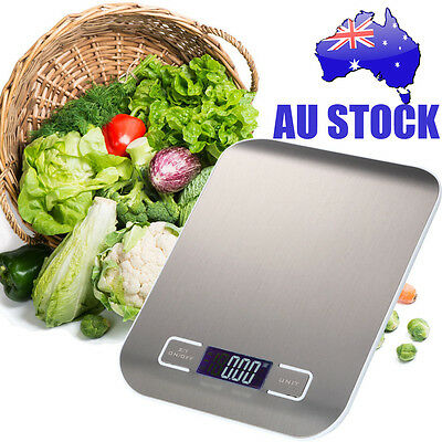 5KG/1G Digital Kitchen Weight Scale LCD Electronic Diet Food Device AU Stock