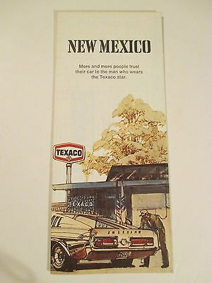 Vintage 1971 TEXACO NEW MEXICO Oil Gas Service Station Road Map