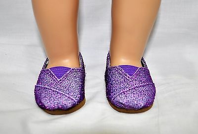 """American Girl Doll Our Generation Journey Gotz 18"""" Dolls Clothes Purple Shoes"""