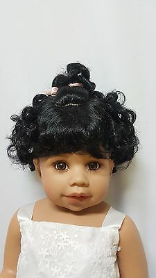 "NWT Monique Molly Black Doll Wig 16-17"" fits Masterpiece Doll(WIG ONLY)"