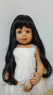 """NWT Monique Sara May Black Doll Wig 16-17"""" fits Masterpiece Doll(WIG ONLY)"""