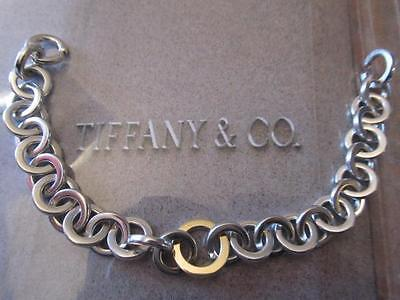 Tiffany & Co. 2001 Sterling Silver & 18K Round Link Bracelet