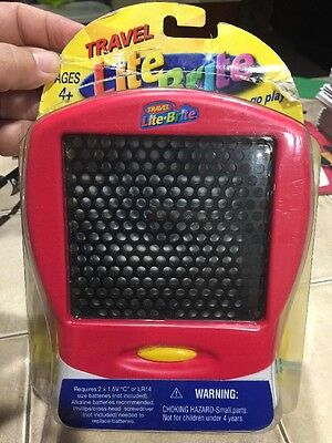 RED Travel Lite Brite Playset, 120 Pegs - by Hasbro,