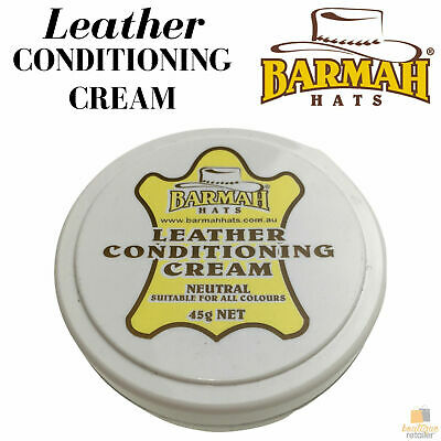 BARMAH Leather Conditioning Cream for Hats Caps Neutral 45g New Conditioner