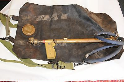 Vintage Hudson 6477 Rubber Fire Fighting Back Pack and Fire Hose