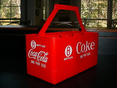 Vintage Coca-Cola Coke Carrier 8 Pint Glass Bottle Case Tote Retro Decor Pakstar