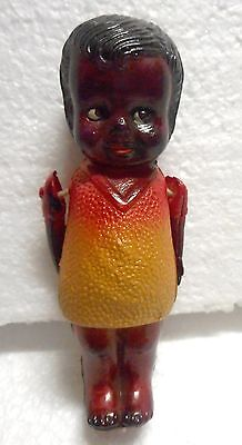 Ca. 40's-50's African American Celluloid Doll Mint Colorful And Dear