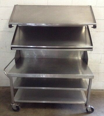 COMMERCIAL Cafe Restaurant Stainless Display Trolley Cart Fresh Food Produce