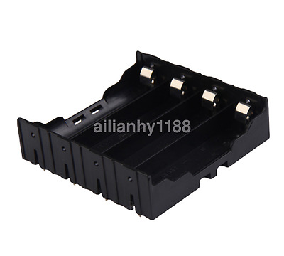 Good Quality Battery Box Holder Batteries 4x18650 Case Without Battery Black AU