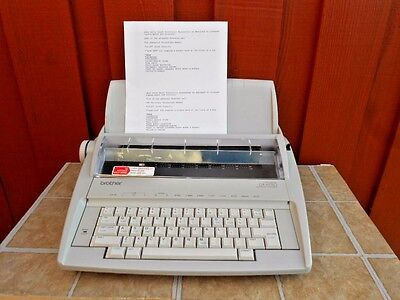 Brother GX-6750 Electric Word processor Typewriter EUC Tested