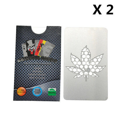 2 x Big Size Credit Card Herb Grinder Crash Zodiac Stainless Steel MIXED