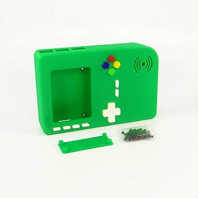PiGRRL 2 Red /& Silver Game Boy Case with Buttons /& Screws for Raspberry Pi 2//3