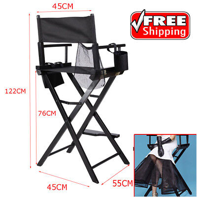 Professional Foldable Wooden Tall Makeup Artist Director Movie Film Studio Chair