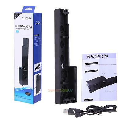 Cooler Cooling Fan 5 Fans Heat Exhauster Temperature Control for PS4 Pro Console
