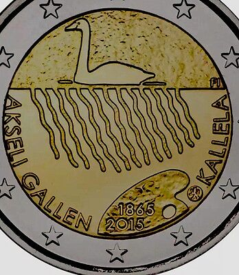 Finland 2 Euro Coin 2015 Commemorative New Kallela BUNC from Roll
