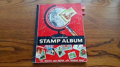 The Illustrated Stamp Album : Mixed Lot Of World Stamps-750 Stamps.