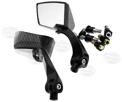 Universal 8/10mm Rear view Side Mirror Motorcycle Black/Carbon