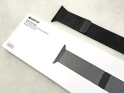 Genuine Apple Watch 42mm Space Black Milanese Loop MLJH2AM/A with Box - Reduced