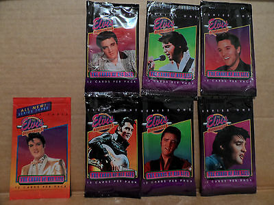 Elvis Presley - Lot of 7 Trading Cards Pack Wrappers Only VG condition No Cards