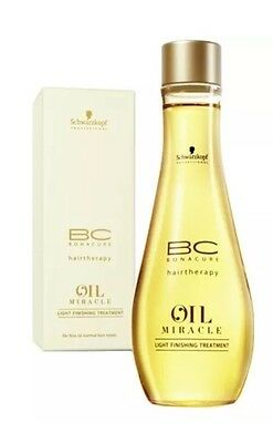 Schwarzkopf Bc Hairtherapy Miracle Oil Light Finishing Treatment 100Ml