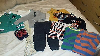 Baby Boys bundle age 12-18 months trousers tops jacket x10 items