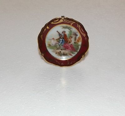Limoges Porcelain Miniature Plate And Stand Made In France