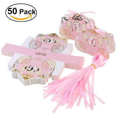 50pcs Carriage Candy Gift Boxes Sweets Packaging Favours for Wedding Party Favor