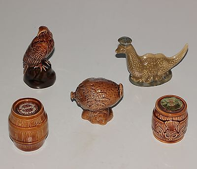 Beswick Miniature Whisky Flasks, Haggis, Eagle, Loch Ness Monster.