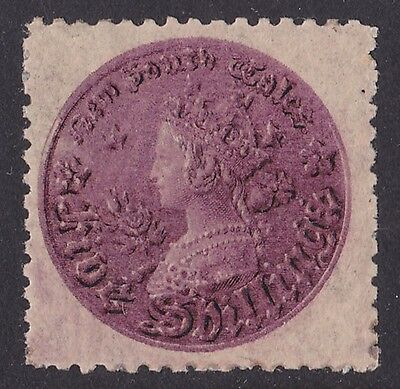 NEW SOUTH WALES 1897 QV Coin 5/- reddish - purple