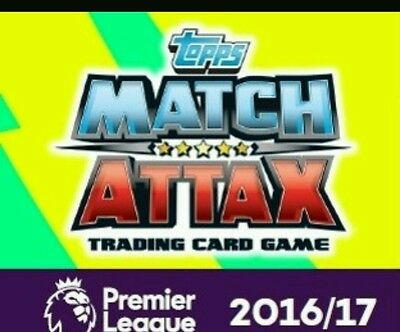 40 MATCH ATTAX 2016/17 TRADING CARDS INC man of match & limited edition