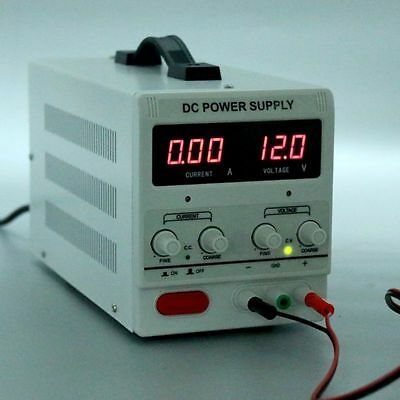Excellent Variable Linear Adjustable Lab DC Bench Power Supply 0-30V 0-5A