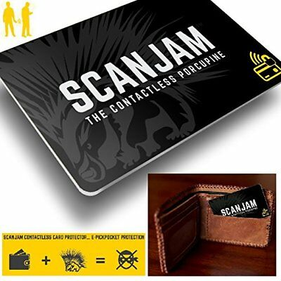 SCANJAM Contactless Bank Credit Cards Protector RFID Protection Blocking Shield