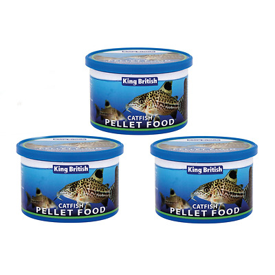 3 Pack 200G King British Catfish Pellets Pleco Bottom Feeder Fish Food Aquarium