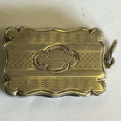 Lovely Antique Victorian Solid Silver Vinaigrette By Frederick Marson 1856