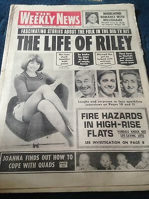 Vintage The Weekly News 15.2.75 The Life Of Riley