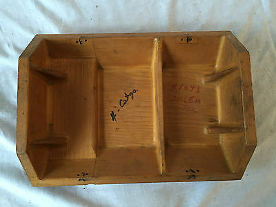 Vintage WOODEN INDUSTRIAL Mold Pattern SALEM TOOL BOX H1693 Steampunk Foundry